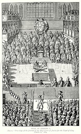 Trial of Charles I. Illustration from A Short History of the English People by JR Green (Macmillan, 1892).