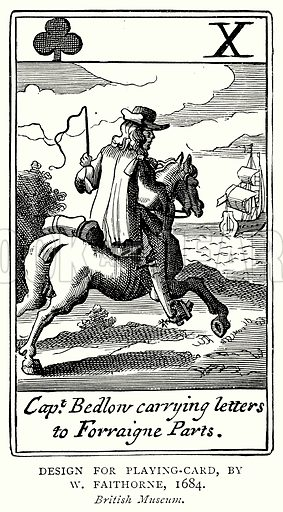 Design for Playing-Card, By W. Faithorne, 1684. Illustration from A Short History of the English People by J R Green (Macmillan, 1892).