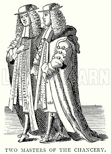 Two Masters of the Chancery. Illustration from A Short History of the English People by J R Green (Macmillan, 1892).