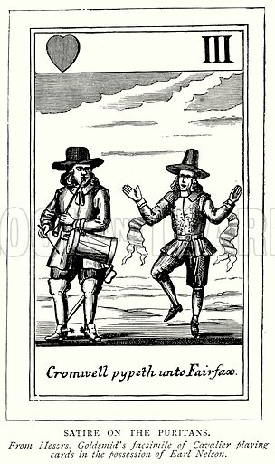 Satire on the Puritans. Illustration from A Short History of the English People by JR Green (Macmillan, 1892).