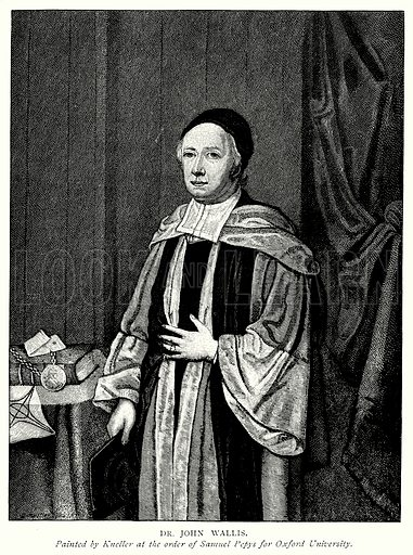 Dr. John Wallis. Illustration from A Short History of the English People by J R Green (Macmillan, 1892).