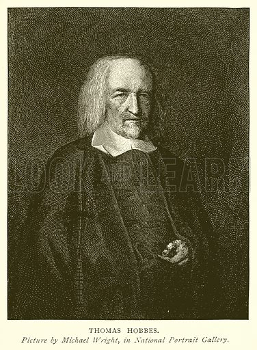 Thomas Hobbes. Illustration from A Short History of the English People by J R Green (Macmillan, 1892).