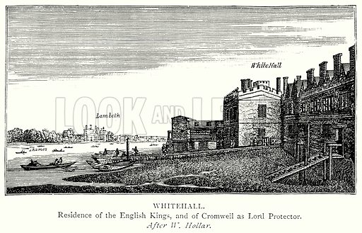 Whitehall. Illustration from A Short History of the English People by J R Green (Macmillan, 1892).
