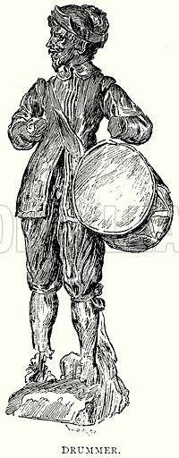 Drummer. Illustration from A Short History of the English People by JR Green (Macmillan, 1892).