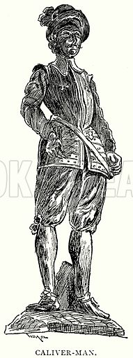 Caliver-Man. Illustration from A Short History of the English People by J R Green (Macmillan, 1892).