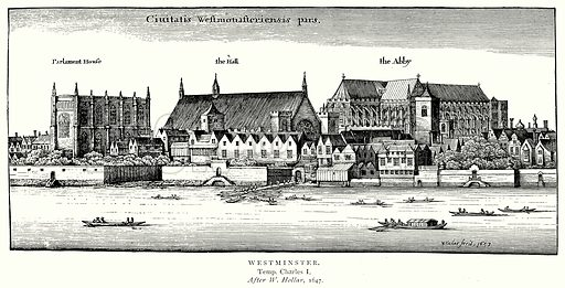 Westminster. Illustration from A Short History of the English People by J R Green (Macmillan, 1892).