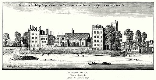 Lambeth Palace. Illustration from A Short History of the English People by J R Green (Macmillan, 1892).