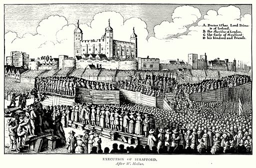 Execution of Strafford. Illustration from A Short History of the English People by J R Green (Macmillan, 1892).