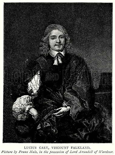 Lucius Cary, Viscount Falkland. Illustration from A Short History of the English People by J R Green (Macmillan, 1892).