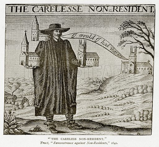 """The Careless Non-Resident."" Illustration from A Short History of the English People by J R Green (Macmillan, 1892)."
