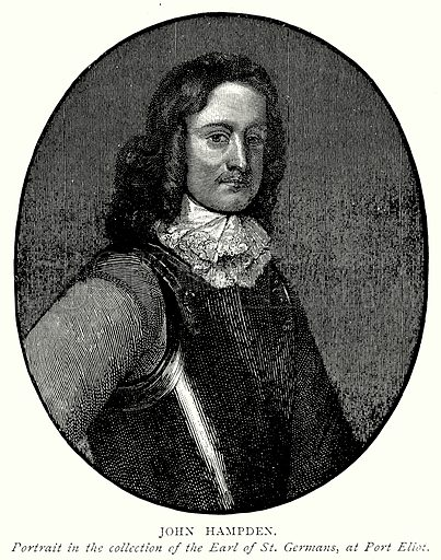 John Hampden. Illustration from A Short History of the English People by J R Green (Macmillan, 1892).