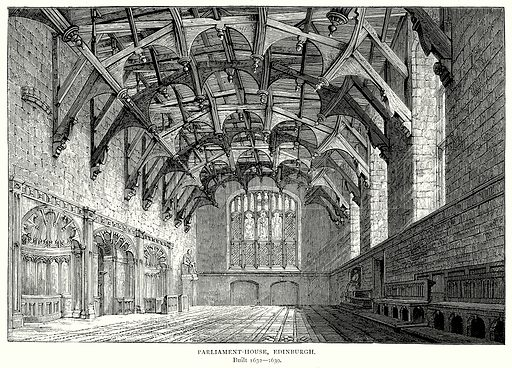 Parliament-House, Edinburgh. Illustration from A Short History of the English People by J R Green (Macmillan, 1892).