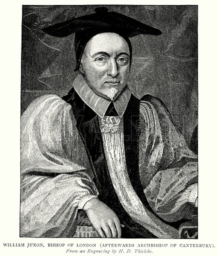 William Juxon, Bishop of London (Afterwards Archbishop of Canterbury). Illustration from A Short History of the English People by J R Green (Macmillan, 1892).