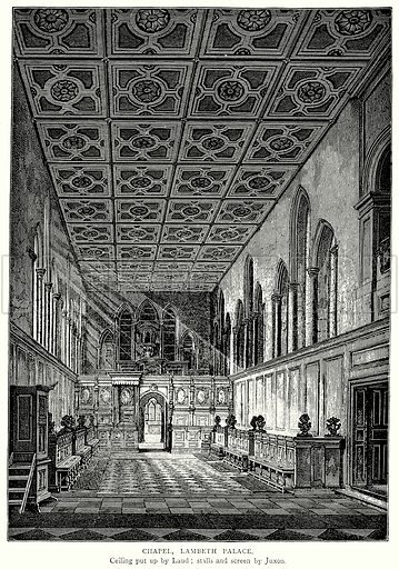 Chapel, Lambeth Palace. Illustration from A Short History of the English People by J R Green (Macmillan, 1892).