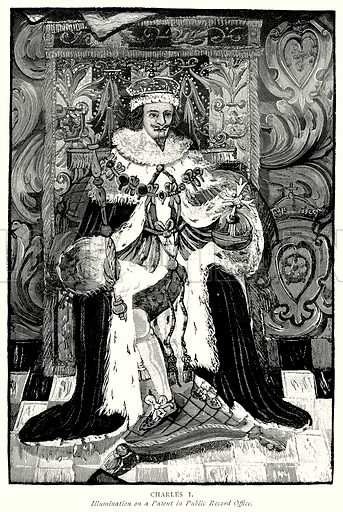 Charles I. Illustration from A Short History of the English People by JR Green (Macmillan, 1892).