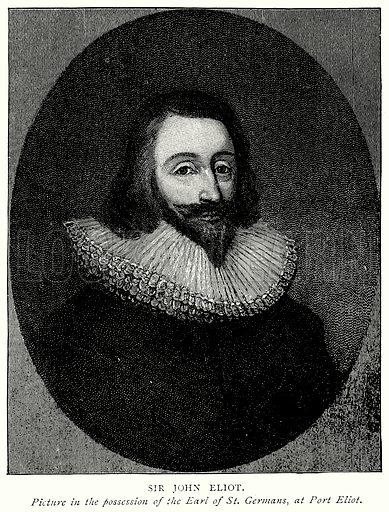 Sir John Eliot. Illustration from A Short History of the English People by J R Green (Macmillan, 1892).