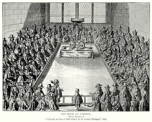 The House of Commons. Illustration from A Short History of the English People by JR Green (Macmillan, 1892).