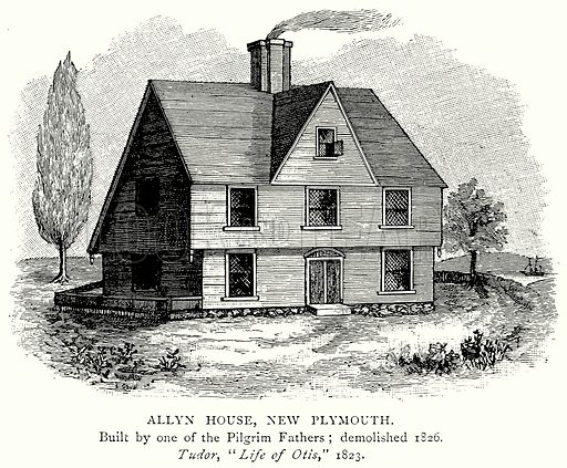 Allyn House, New Plymouth. Illustration from A Short History of the English People by J R Green (Macmillan, 1892).