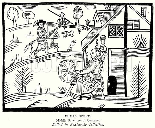 Rural Scene. Illustration from A Short History of the English People by J R Green (Macmillan, 1892).