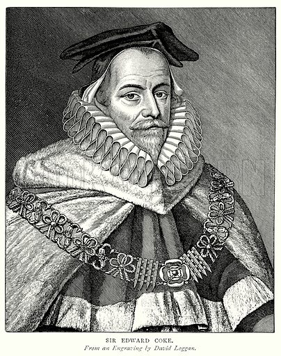 Sir Edward Coke. Illustration from A Short History of the English People by J R Green (Macmillan, 1892).