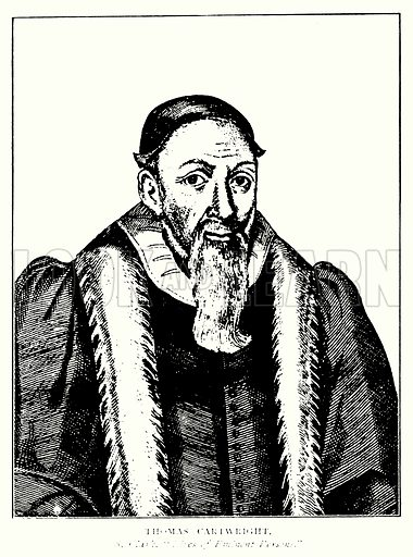Thomas Cartwright. Illustration from A Short History of the English People by J R Green (Macmillan, 1892).