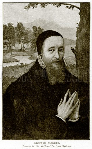 Richard Hooker. Illustration from A Short History of the English People by J R Green (Macmillan, 1892).