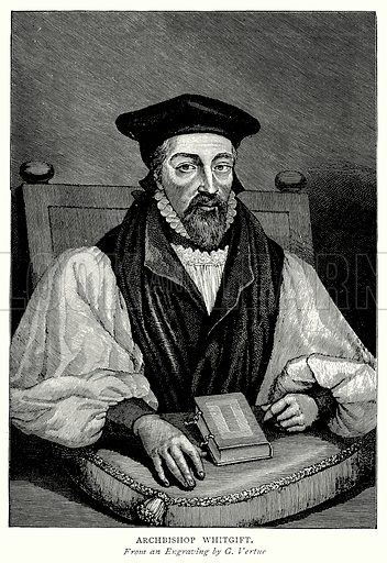 Archbishop Whitgift. Illustration from A Short History of the English People by J R Green (Macmillan, 1892).