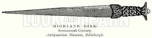 Highland Dirk. Illustration from A Short History of the English People by J R Green (Macmillan, 1892).