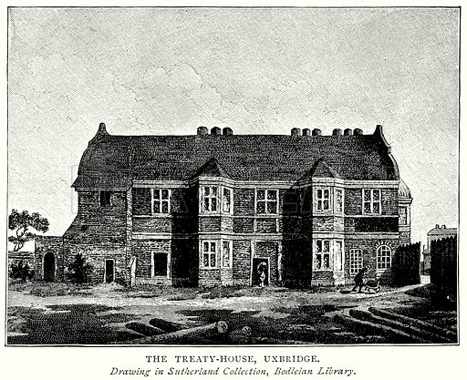The Treaty-House, Uxbridge. Illustration from A Short History of the English People by J R Green (Macmillan, 1892).