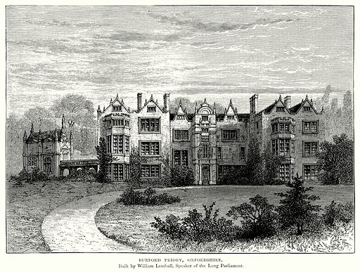 Burford Priory, Oxfordshire. Illustration from A Short History of the English People by J R Green (Macmillan, 1892).