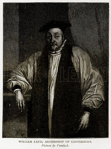 William Laud, Archbishop of Canterbury. Illustration from A Short History of the English People by JR Green (Macmillan, 1892).