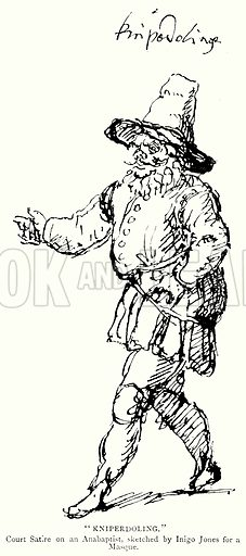 """""""Kniperdoling."""" Illustration from A Short History of the English People by J R Green (Macmillan, 1892)."""