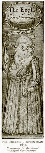 The English Gentlewoman 1631. Illustration from A Short History of the English People by J R Green (Macmillan, 1892).
