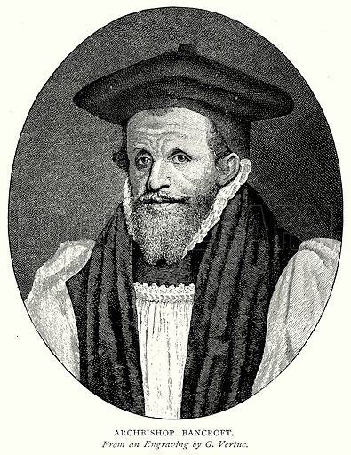 Archbishop Bancroft. Illustration from A Short History of the English People by J R Green (Macmillan, 1892).