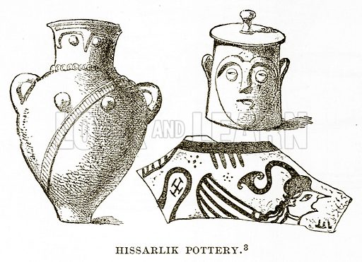 Hissarlik Pottery. Illustration from History of Greece by Victor Duruy (Boston, 1890).