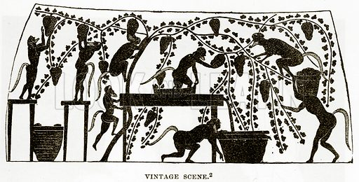 Vintage Scene. Illustration from History of Greece by Victor Duruy (Boston, 1890).