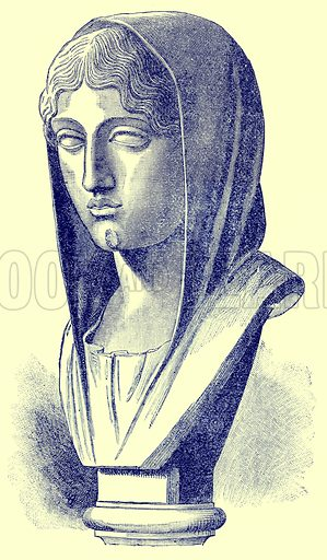 Aspasia. Illustration from History of Greece by Victor Duruy (Boston, 1890).