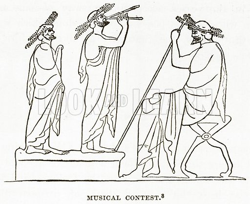 Musical Contest. Illustration from History of Greece by Victor Duruy (Boston, 1890).