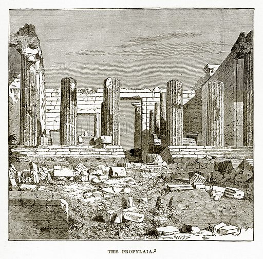 The Propylaia. Illustration from History of Greece by Victor Duruy (Boston, 1890).