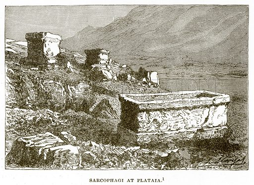 Sarcophagi at Plataia. Illustration from History of Greece by Victor Duruy (Boston, 1890).