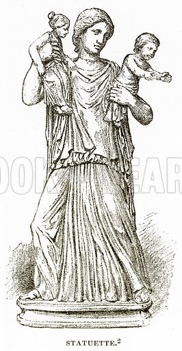 Statuette. Illustration from History of Greece by Victor Duruy (Boston, 1890).