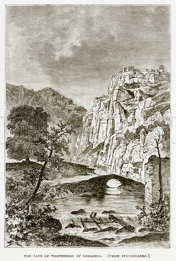 The Cave of Trophonios at Lebadeia. Illustration from History of Greece by Victor Duruy (Boston, 1890).