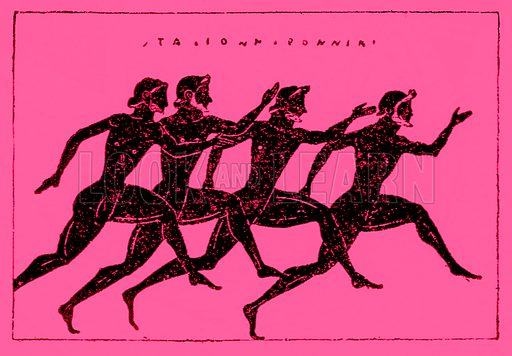 Race. Illustration from History of Greece by Victor Duruy (Boston, 1890).