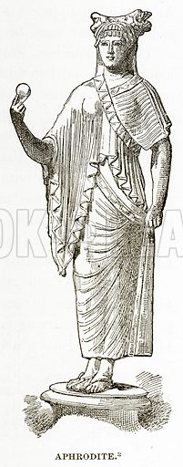 Aphrodite. Illustration from History of Greece by Victor Duruy (Boston, 1890).