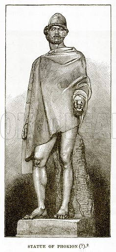 Statue of Phokion (?). Illustration from History of Greece by Victor Duruy (Boston, 1890).