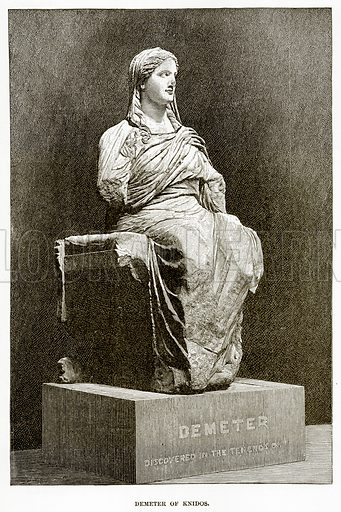 Demeter of Knidos. Illustration from History of Greece by Victor Duruy (Boston, 1890).