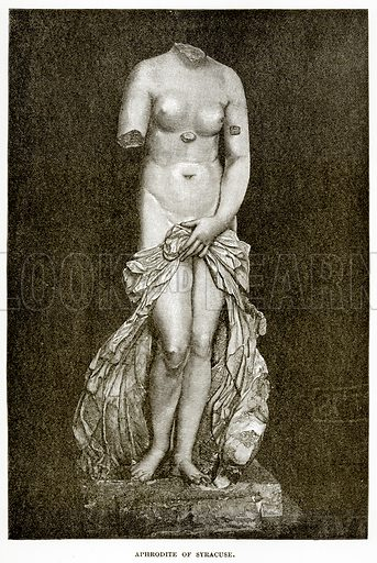 Aphrodite of Syracuse. Illustration from History of Greece by Victor Duruy (Boston, 1890).