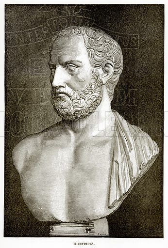 Thucydides. Illustration from History of Greece by Victor Duruy (Boston, 1890).