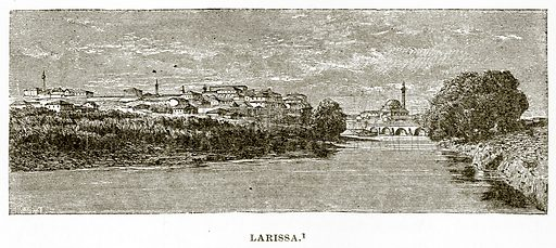 Larissa. Illustration from History of Greece by Victor Duruy (Boston, 1890).