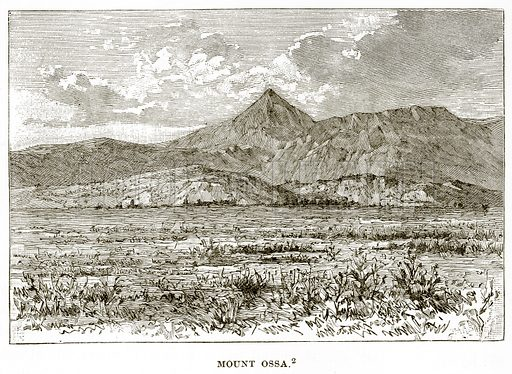 Mount Ossa. Illustration from History of Greece by Victor Duruy (Boston, 1890).